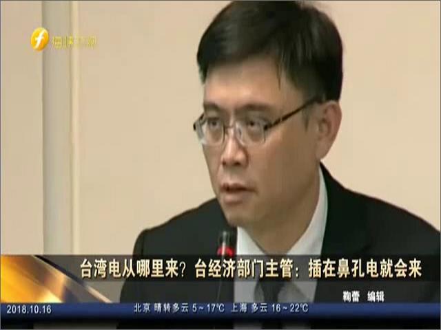 臺灣電從哪來?臺經濟部門主管:插在鼻孔電就會來圖片