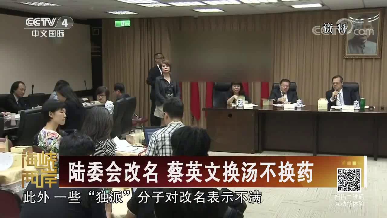 陆委会改名 蔡英文换汤不换药图片