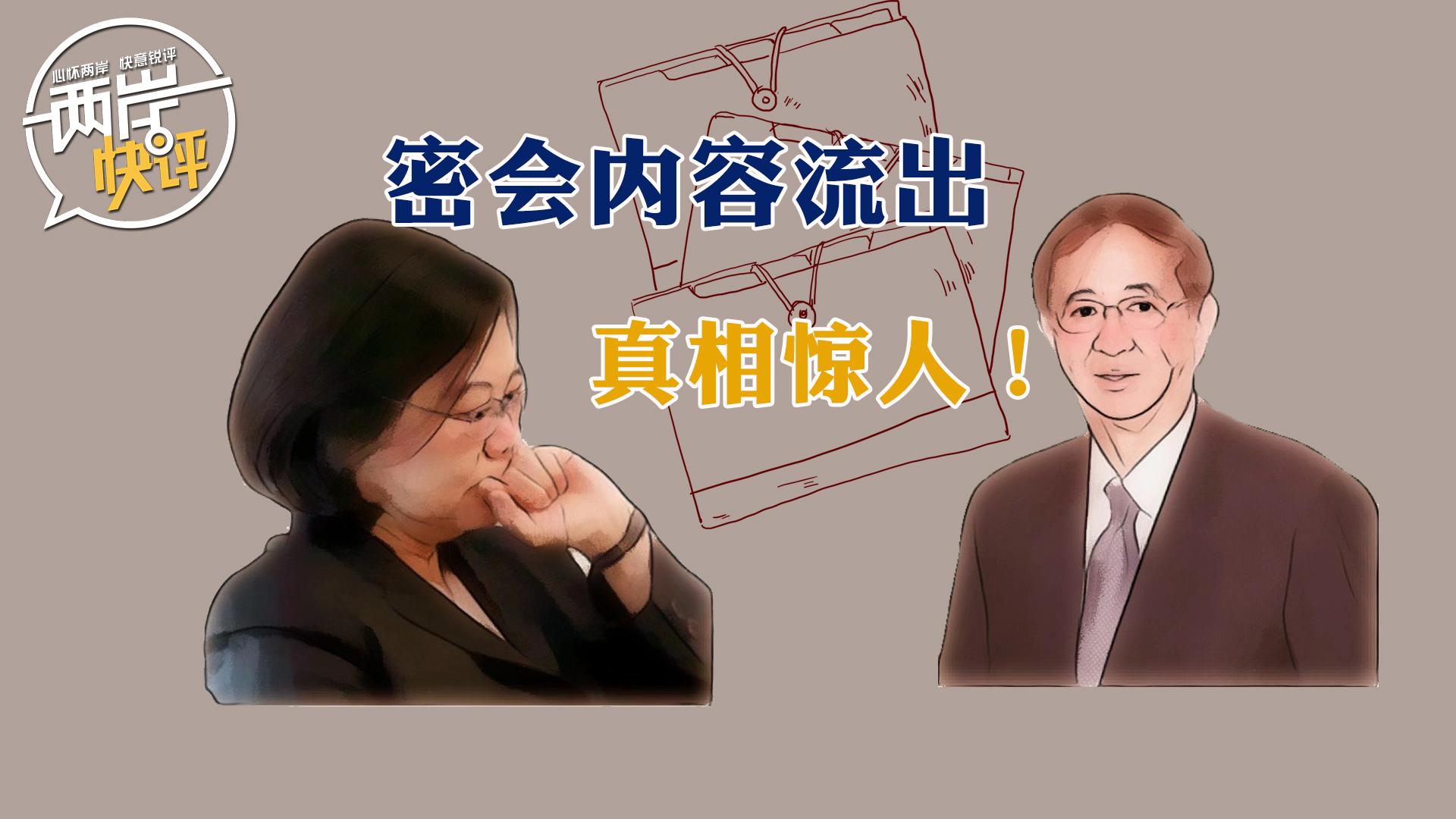 """蔡英文和民進黨""""獨派大佬""""密會內容流出,真相驚人!"""