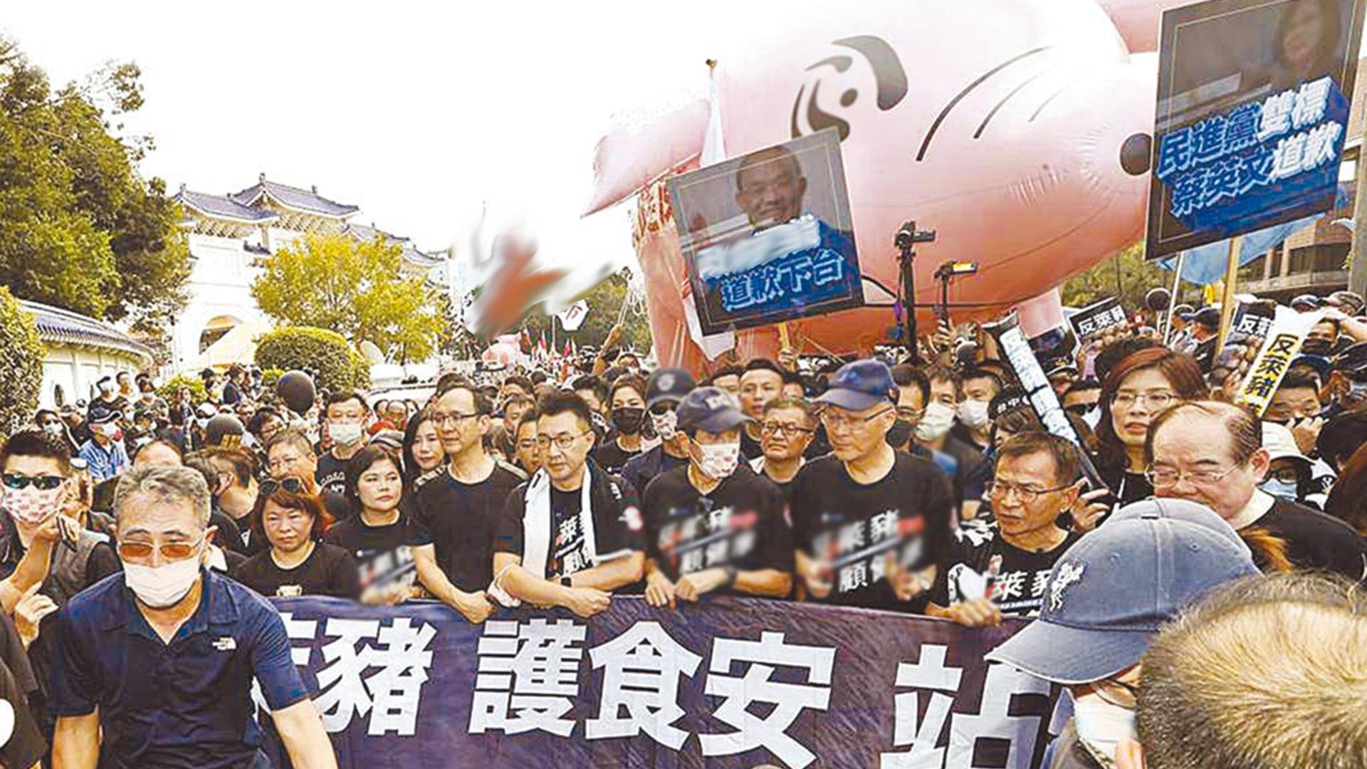 """當初反美牛要馬英九下臺的民進黨,如今執意進口""""萊豬""""引眾怒圖片"""