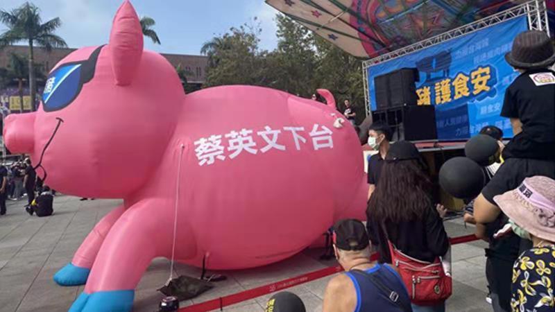 """蔡英文还在为开放""""莱猪""""狡辩,可谁在体谅台湾民众健康?图片"""