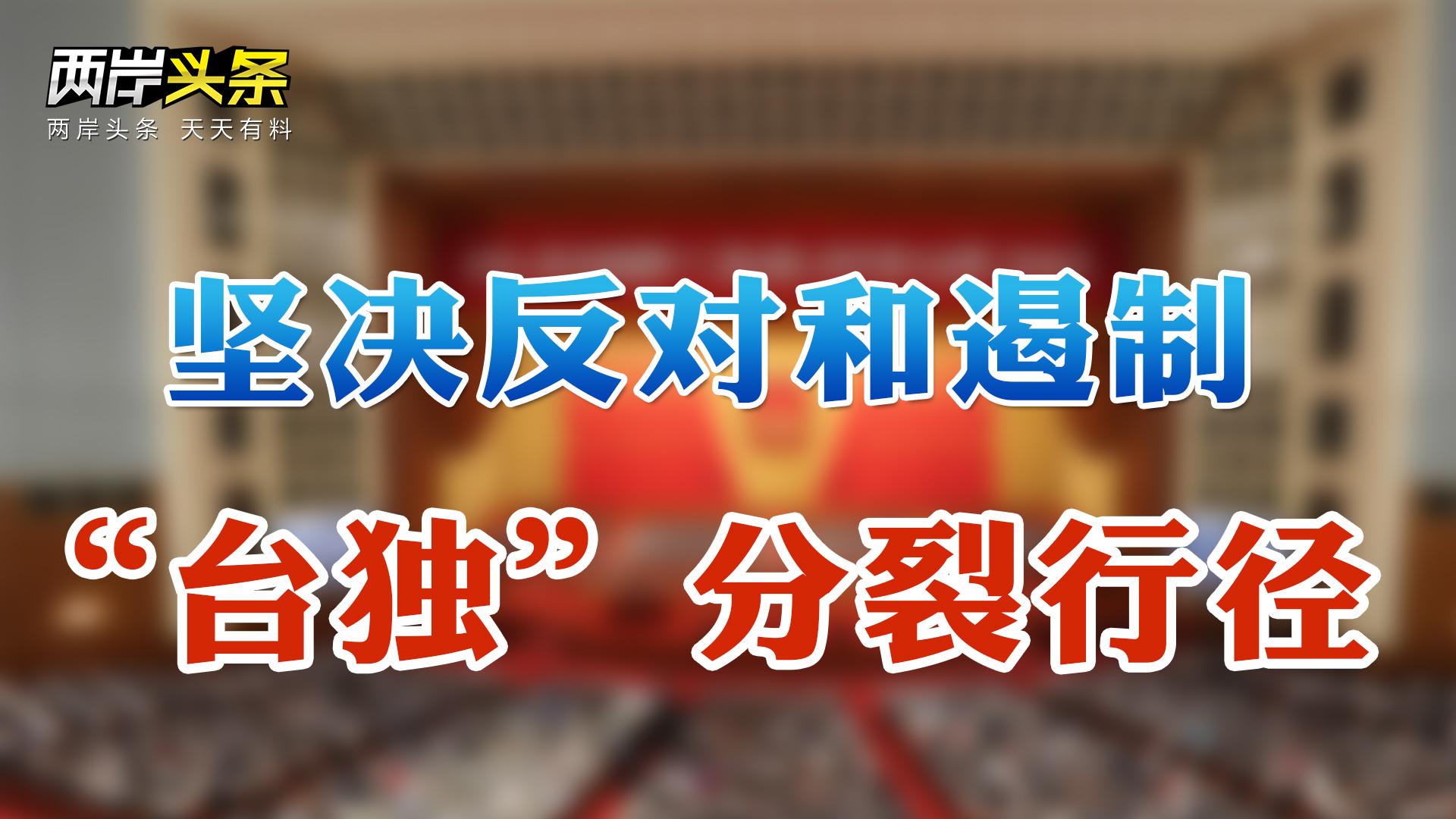 """政府工作報告強調堅決反""""臺獨"""" 外交部、國臺辦就美售臺武器表態"""
