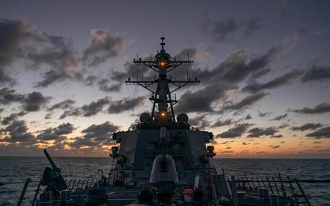 囂張!美軍艦今年第12次穿航臺灣海峽 并稱符合《國際法》圖片