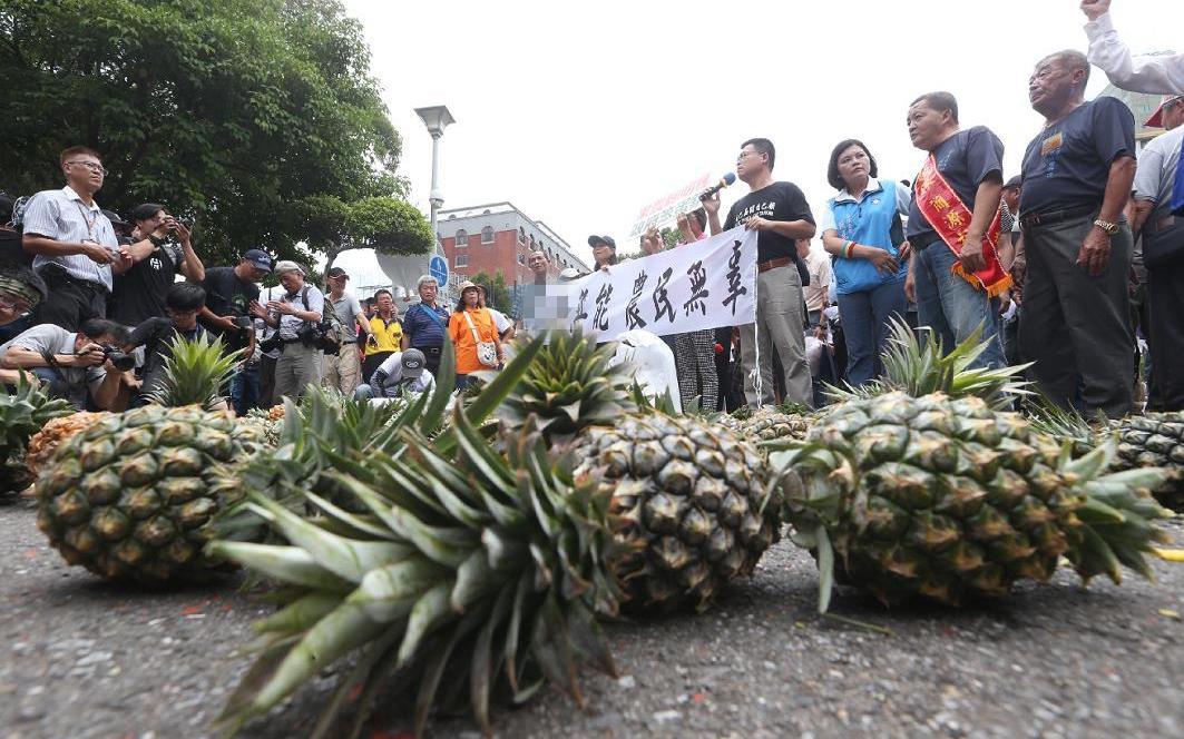 """大陆暂停进口台湾菠萝 """"大陆需要台湾""""说再遭讽图片"""