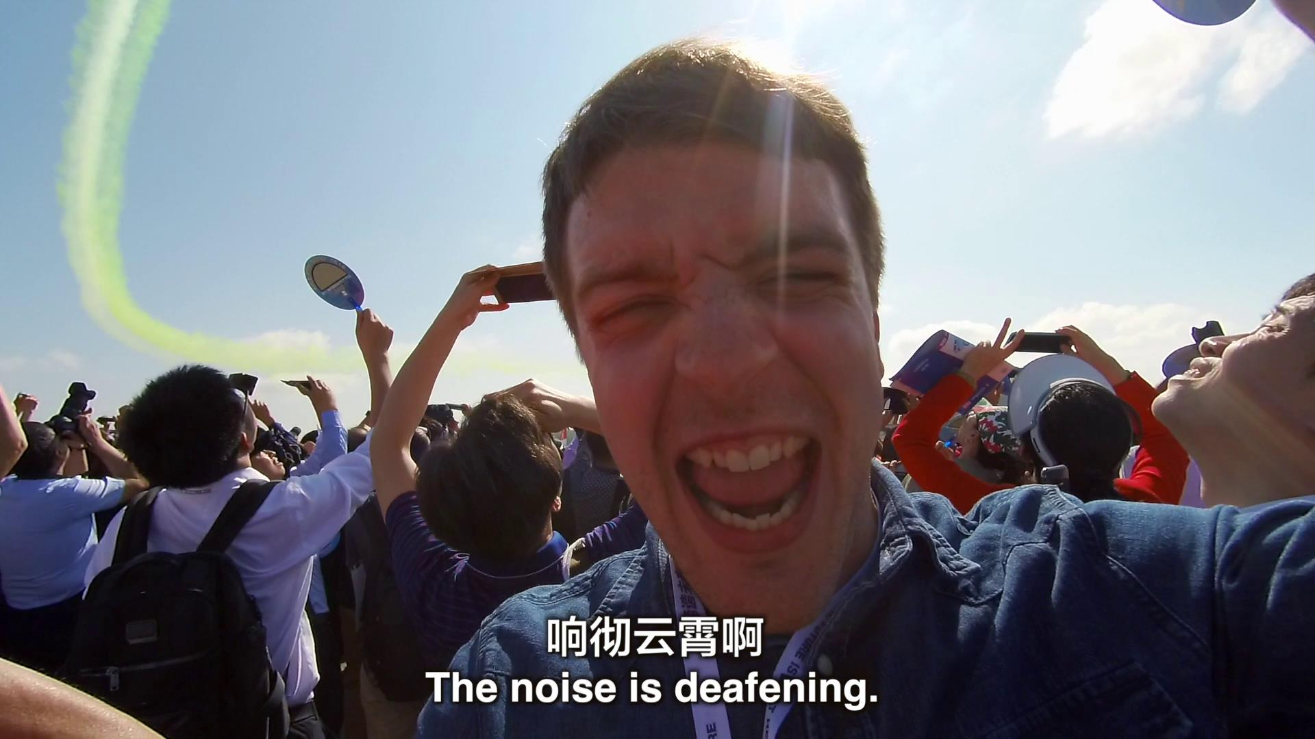 《【中國熱詞】殲20太帥了!英國小哥哥看珠海航展》圖片