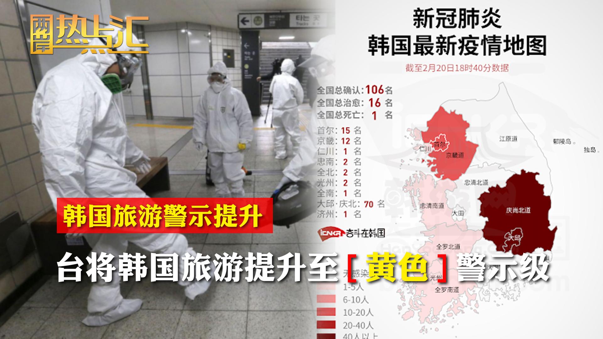 台将韩国旅游提升至黄色警示级 摆官威无助校园防疫图片