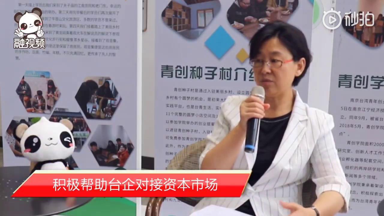 江苏省台办主任练月琴:积极帮助台企对接资本市场图片