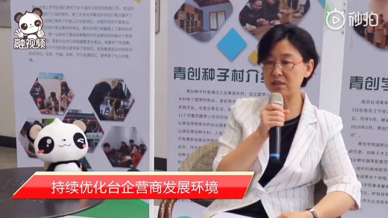练月琴:江苏持续优化台企营商发展环境图片